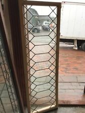 Sg 1608 antique geometric wavy glass transom window 16.5 x 52.5