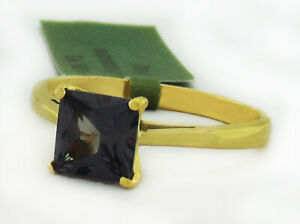 ALEXANDRITE 1.18 Cts SOLITAIRE RING 10K YELLOW GOLD * New With Tag *