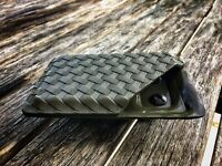 Kydex Wallet With Money Clip OD Green Textured Basket Weave Minimalist Wallet