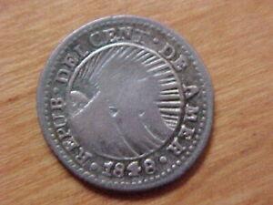 Costa Rica Guatemala Central American Republic1848 Counter stamp 1848 Half Real