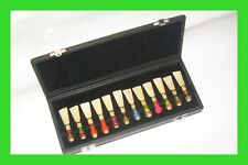 ***Professional Bassoon Reed Case, Geniuin Leather For 24 Reeds, Both Sides Open