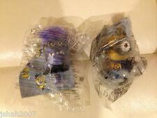 McDonalds Despicable Me 2 Minion Toys Evil Chomper & Stuart Babble Grabber New!!