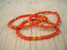 CZECH orange and yellows FACETED RONDELLE GLASS BEADS 3x2mm 150 beads