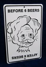 BEFORE & AFTER BEER *US MADE* Embossed Sign - Man Cave Garage Bar Pub Wall Decor