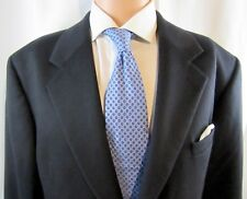 Mens Andrew Fezza Black Pure Cashmere Blazer, Sport Coat size 44 Long