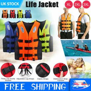 Life Jackets Adults Kids Watersport Vest Kayak Ski Buoyancy Aid Sailing Boating