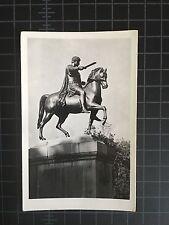 Real Photo Postcard Warsaw Monument to Jozef Poniatowski Lazienki Park Unused