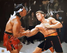 Jean Claude Van Damme & Bolo Yeung Autographed Body Shot 16x20 Photo ASI Proof
