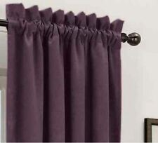 "*Sun Zero Cassara Rod-Pocket Blackout Curtain Panel 52""Wx84""L Eggplant NEW"