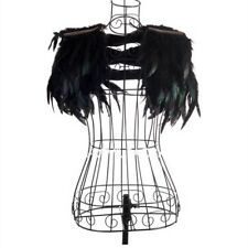 Ladies Gothic Black Angel Fairy Feather Cape Victorian Natural Wings Cosplay