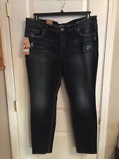 NWT SILVER Aiko Skinny Jeans Womens Plus Size 22 Retail $114 100% Authentic