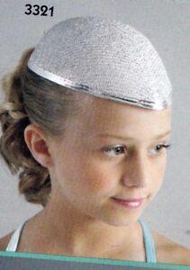 Dance Costume Hats Lot of 48 Silver Lurex teardrop Costume hats felt base