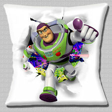 "Buzz Lightyear Cushion Cover 16""x16"" 40cm Toy Story Disney Film Cartoon Spaceman"