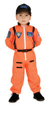 Child Astronaut Costume Orange Flight Suit American Heroes Size Small 4-6