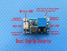 DC-DC 2-24V to 5-28V 6V 12V 24V 2A Adjustable Boost Step Up Converter Module