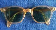 Vintage American Optical Sunglasses Tart Arnel style Horn Rim 46-22 AppleJuice A