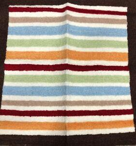 TIDDLIWINKS - Jungle Bright Multicolor Striped 30 x 30 inch NURSERY RUG