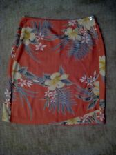 Tommy Bahama 100% Silk Tropical Floral Print Sarong Wrap Skirt Women's Size 12