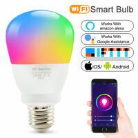 Wifi Smart Multi-Color LED Light Bulb RGBW Amazon Alexa/Google Home App Control