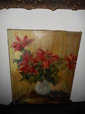 Old oil painting,{ Anna Gasteiger Sophie 1877 - 1954, Beautiful flowers }.