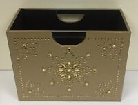 Luxury Gold Magazine Rack Storage Basket - Jewelled Book Magazine Holder
