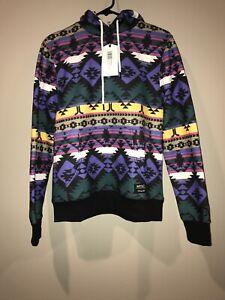 WeSC Raffe Mike Blanket AOP Unisex Hooded Sweatshirt SM men's MED Women's NWT