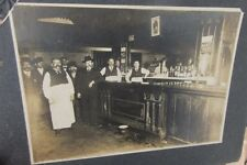 ca 1910 MINNEAPOLIS, MN 7 CORNERS BAR, SPITOON & SPIT ON FLOOR CABINET PHOTO