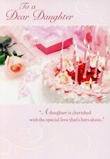 For A Dear Daughter - Birthday Greeting Card - 01452-1