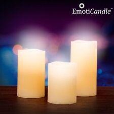 3er LED Kerzen Kerze Duftkerze Vanille mit Puste - Sensor