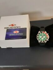 mens seapro Divers 200m watch.green wave face.