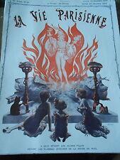 Jeunes Filles devant les flammes Buche de Noel Couverture Print Cover 1913