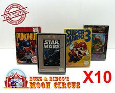 10x NINTENDO NES CIB GAME- CLEAR PLASTIC PROTECTIVE BOX PROTECTOR SLEEVE CASE