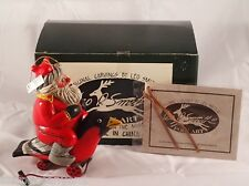 Leo Smith Cardinal on Santa Red Bird Orn. Midwest #1010 New In Never Opened Box