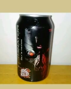 Big Red TERMINATOR GENISYS T800 12oz CAN Top Opened