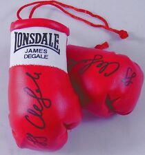 Autografiada Mini Guantes De Boxeo James degale