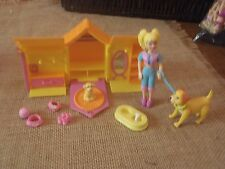 Polly Pocket Folding Dog House Girl Doll Puppy Accessories 2001 Origin Lot