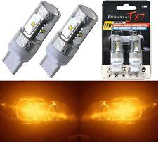 LED Light 30W 7440 Amber Orange Two Bulbs Back Up Reverse Replace Plug Play