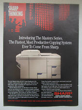 3/1991 PUB SHARP MASTER SERIES SD-2075 COPIER PHOTOCOPIE DUPLICATOR ORIGINAL AD