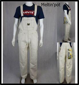 Meltin pot salopette tuta jeans uomo da lavoro larga hip hop rap cotone w34 48
