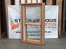Timber Double Hung Window 1025h x 606w DOUBLE GLAZED OBS HARDWOOD - IN STOCK NOW
