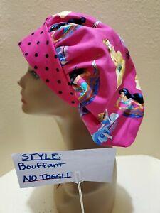 Disney Princesses (spirit) Women's Bouffant Surgical Scrub Hat/Cap Handmade