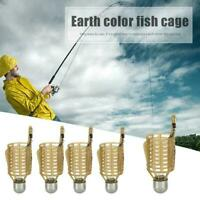 10 Pcs Carp Fishing Feeder Lure Feeders Cage Trap Basket with Bait Lead Z8C1
