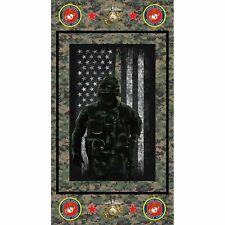 United States Marine Panel by Sykel Enterprises-Marines-Flag-Emblem-Eagle