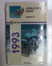 1993 Ski-doo Alpine II Operators Manual Guide  (414816000)