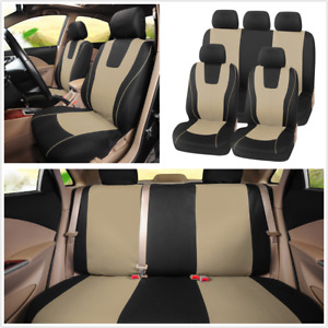 9PCS Seat Covers Protector Full Set Breathable Universal Fit For Standard Car