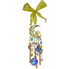 Crystal Wind Chime goldtone Kirks Folly Mermaid Moon