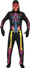 Neon Skeleton Bones Mens Costume Size XL
