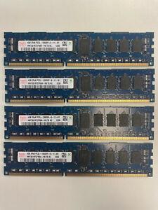 Memoire RAM 16Go ( 4x 4Go) DDR3 1333Mhz PC3L-10600R ECC pour SERVEUR ou MAC PRO