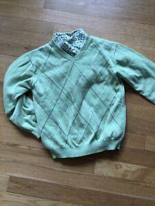 Crazy 8 Boys 2 Piece Set Sweater Shirt Green Spring Easter 5