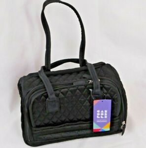 Caboodles Femme Fatale Total Tote Black Diamond Soft Fabric Cosmetic Purse Bag